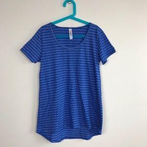 Lularoe Top Tee Sz XXS Blue Short Sleeve